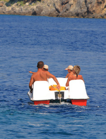 Using paddle boats to build relationships